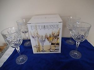 Fifth Avenue Crystal 10 Oz. Goblets (4 sets of four) Brand New