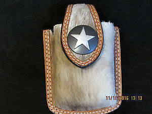 NEW Navaho Indigenous goat skin clip-on belt purse for keys