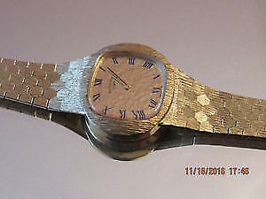 Authentic Lucien Piccard Women`s Swiss Watch 14kt Gold