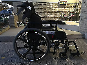 Almost New Manual Reclining /Tilt Wheelchair 17''X17 ''Delivery
