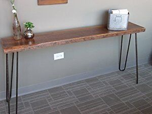 Live edge hairpin table