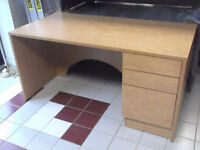 CUSTOM BUILT MAPLE VENEER OFFICE DESKS - USED 3 WEEKS