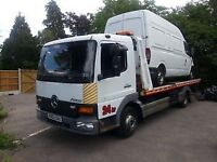 Car and van 7.5 ton breakdown service.