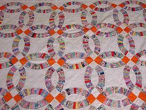 antique wedding ring quilt - Wedding Ring Quilts