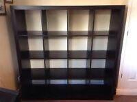 Ikea Expedit/Kallax Shelving Unit (Black Brown Colour) (Used)