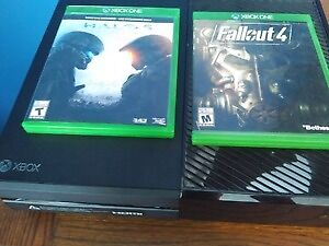 Xbox one 1TB with two games