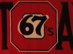 CHL Ottawa 67's fleece blanket