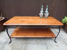"Ducal ""Winchester Forge"" design two tier coffee table"