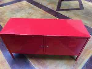 TV Cabinet, Aluminum, Red Ikea