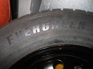 winter tires on rims from camry 2006 size 205 65 15 Cambridge Kitchener Area image 2