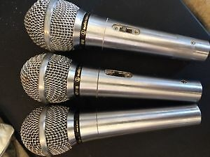 set of three audio technica,vocal mikes.