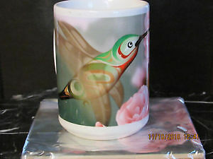 NEW hand painted fine porcelaine large coffee or tea mug / cup