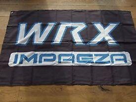 Subaru Impreza WRX workshop flag banner sti p1 legacy