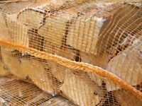 HARDWOOD FIRE WOOD LOGS KILN DRIED 25cm HEAVY LARGE NET 20KG