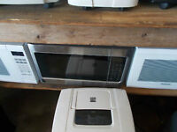 2 STAINLESS STEEL MICROWAVES FOR SALE