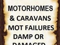 WANTED ALL MOTORHOMES AND CARAVANS ANY AGE OR CONDITION BELOW £5000