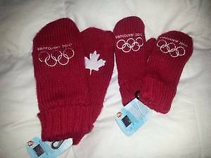 Kids Olympic Games 2010 Mitts One Size New never worn