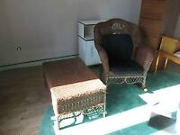 Wicker Chair and Matching Table