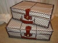 Vintage/ Rustic Wire Suitcase For Sale - Great as a Money Box