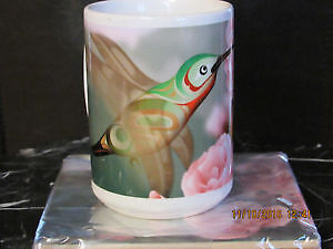 *NEW hand painted fine porcelaine large coffee or tea mug / cup*