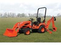 Small Kubota tractor available - with me as operator.