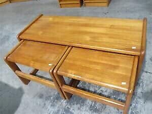 Teak coffee and end tables