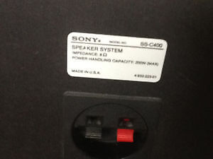 SONY SS-C400 TOWER SPEAKERS