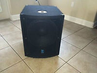 pair of LS720p yorkville powered subs asking 1400