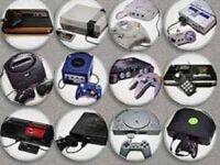 Wanted retro toys games consoles sega Nintendo Atari