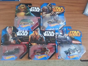 19 Star Wars Hot Wheels Collectibles.
