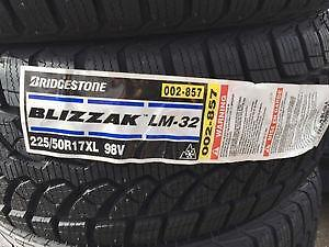 Four NEW 225/50/17 Bridgestone Blizzack LM32