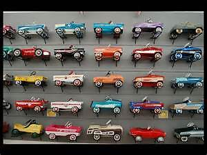 pedal cars, tractors, tin toys, wagons, tricycles etc