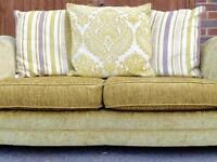 Green DFS 4 Seater Sofa £150 RRP £1000 also in pink £250 for both