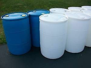 Barrels - 45 gal.  Steel or Plastic