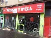 Shop Double window Front Well Street Avail Now Paisley