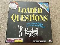 Loaded Questions The Classic Game of Who Said What ! Family Board Game Brand New & sealed
