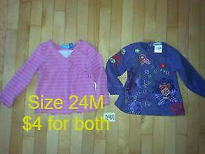 Baby Girl's Size 2 Shirts for Sale!