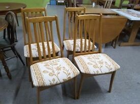 SALE NOW ON!! Set Of 4 Chairs Reupholstered By The RGFs Restoration Team- Can Deliver For £19