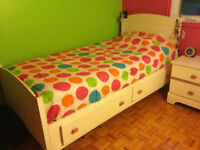 Mobilier de chambre pour fille