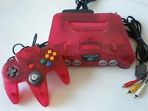 *****CONSOLE NINTENDO 64 EDITION WATERMELON ROUGE A VENDRE / NINTENDO 64 N64 WATERMELON RED EDITION SYSTEM FOR SALE*****