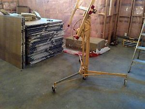 Drywall lift - rental, collapsible, for ceiling