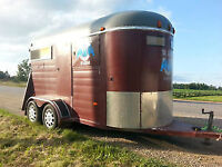 Renting our bumper pull horse trailer 7ft by6ft for two horses