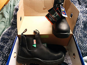 Blundstone boots. Brand new, green patch safety