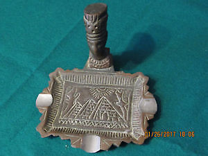 Antique bronze Egyptian ashtray