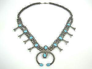 4d9b19de9 Turquoise Squash Blossom Necklaces