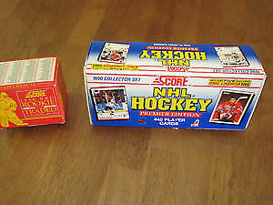 FS: Four sets of cards as follows: Score 1990 NHL collector set