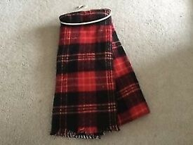 Girls or boys Next red check winter scarf One Size Brand NEW