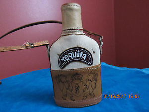 Handmade new Mexican leather flask for Tequila