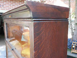 antique barrister bookcase oversized 4 level