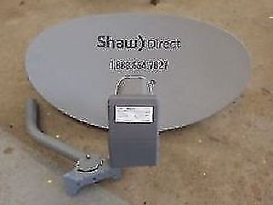 SHAW DISH WITH XKU LNB FOR SHAW FOR SALE- USED